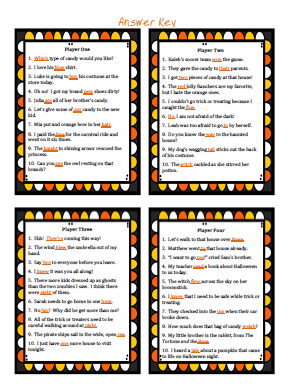 FREE Which Witch Homophone Game Answer Key